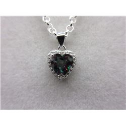 1.90 CT Mystic Topaz & Diamond Necklace