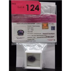 Certified 6.49 CT Oval Amethyst Gemstone