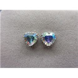 New Mercury Mystic Topaz & Diamond Earrings