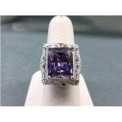 Huge! Amethyst Solitaire Ring
