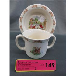 Royal Doulton Bunnykins bowl & Mug