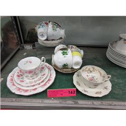 10 China teacup & saucers