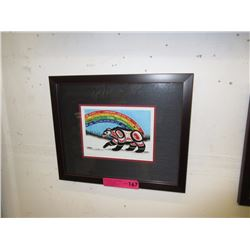 "Richard Shorty framed print ""Rainbow Bear"""