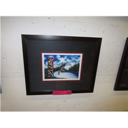 "Richard Shorty framed print ""Blue Eagle"""