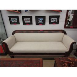 1860's Flame mahogany wood framed sofa
