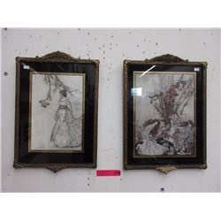Pair of Arthur Rackham vintage prints