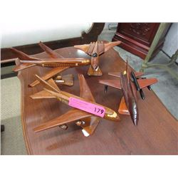 4 Wood airplane models