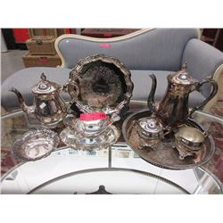 Silver plated tea set & more