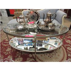 New contemporary coffee table with metal frame