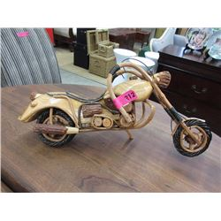 Folk art motorcycle model