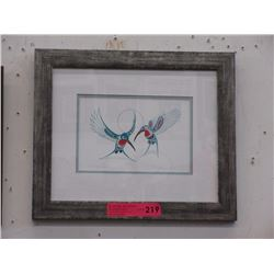 "Richard Shorty framed print ""Hummingbirds"""