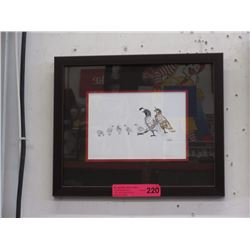 "Richard Shorty framed print ""Quail Family"""