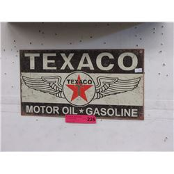 Tin Texaco Oil sign
