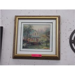 "Framed Thomas Kinkade print ""The Village Inn"""