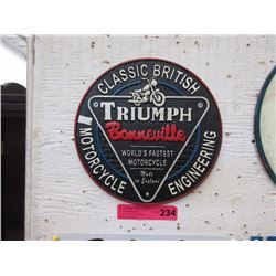 Cast Iron Triumph Bonneville Motorcycle Plaque