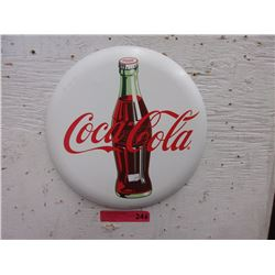 "Metal Coca-Cola 12"" Button"