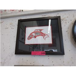 "Richard Shorty framed print ""Salmon"""