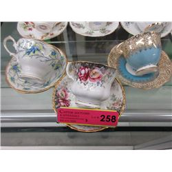 3 Royal Albert teacup & saucers
