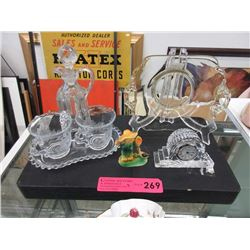 Waterford crystal clock & other collectibles