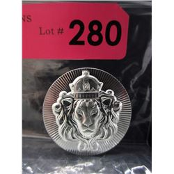 5 Ounce .999 Silver Stacker Button Round