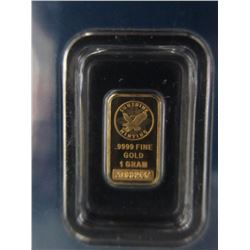 .9999 Gold Sunshine Minting (SMI) 1 Gram Bar