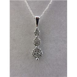 Diamond-Set Journey Pendant Necklace