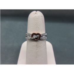 Diamond 14KT Rose Gold & Sterling Silver Ring