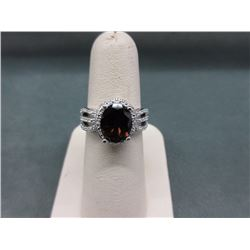 New 3.00 Carat Smokey Quartz & Diamond Ring