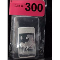 2014 Yr. of the Horse .999 Silver Art Bar
