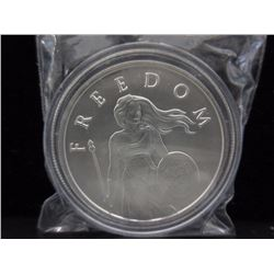 2014 Freedom Girl .999 Silver 1 Oz. Art Round