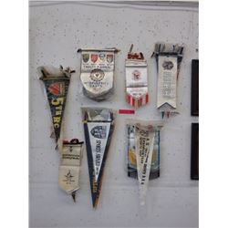 30 Assorted sports pennants