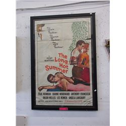 """The Long Hot Summer"" framed poster"