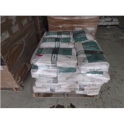 Wrapped skid of concrete seal