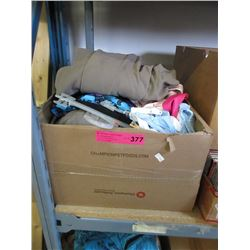 Box of assorted new clothing