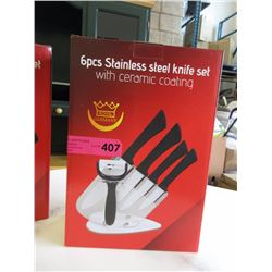 New 6 piece stainless steel knife set