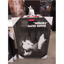 "New framed David Bowie ""Heroes"" poster"