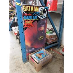75+ Assorted Comic Books w/ Batman Poster