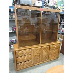 Mid-century china cabinet with interior lighting