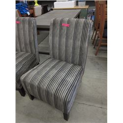 New corduroy striped accent chair