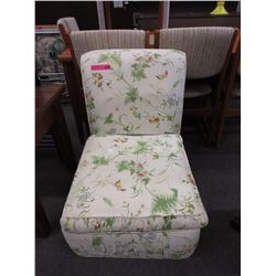 Vintage upholstered slipper chair