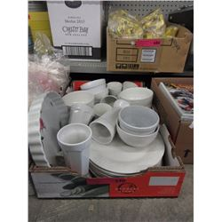 Box lot of dishware