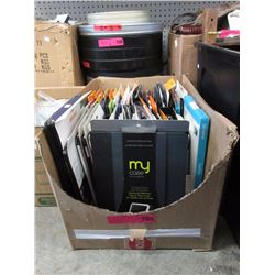Box of assorted new tablet cases