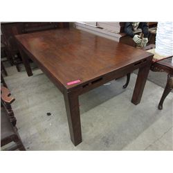 New LH Imports Wood Dining Table with Pop-Up Leaf
