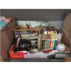 Vintage books & household items