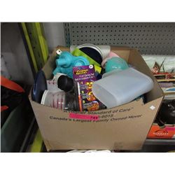 Large box of kitchen items