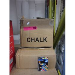 Case of new coloured chalk