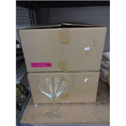 2 Dozen new 10 oz. martini glasses