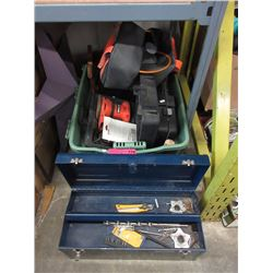 Tote, tool box & contents