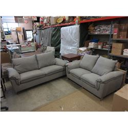 New upholstered 2 seat sofa & loveseat