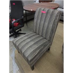New striped corduroy accent chair
